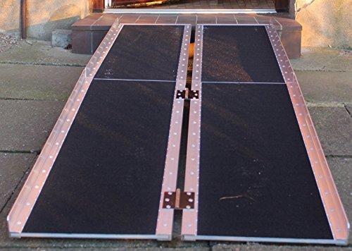 Rollstuhlrampe verschiedene Größen 272 kg klappbar Alu Auffahrrampe Verladerampen Rampe (183)