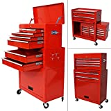 Best Tool Cabinets - Arebos Tool Trolley red lockable (9 Drawers) Review