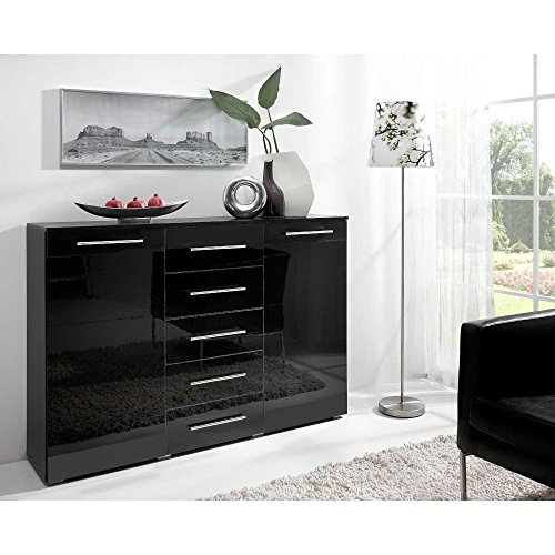 justhome-verona-2d5s-nero-commode-buffet-hxlxp-100x150x41-cm-couleur-noir-mat-noir-laque-haute-brill