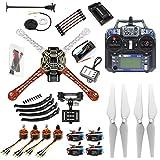 qwinout 450mm fuselaje 2,4G 6CH APM2.8GPS Control de vuelo RC Quadcopter ARF Combo DIY juego completo Drone con cámara Gimbal Mount (unassembly RTF)