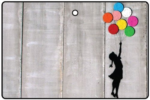 AAF Ambientador De Coche BANKSY GIRL WITH FLOATING BALLOONS