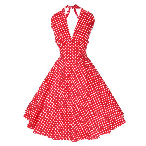 Maggie Tang Femmes Robe tulle 1950s Vintage Multicolore - Red White