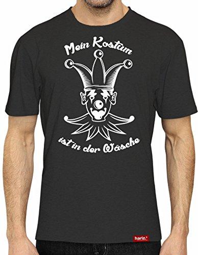 HARIZ® Collection T-Shirt // 36 Designs wählbar // Schwarz, S-XXL // Fasching I Halloween I Altweiberfastnacht I Verkleidung #Karneval514: Kostüm ist in der Wäsche XL (Der Joker Halloween Kostüm Für Männer)