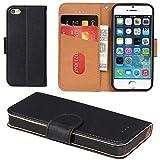 Aicoco Coque iPhone 5, Coque iPhone 5S, Étui Housse en Cuir Flip Case Cover pour...