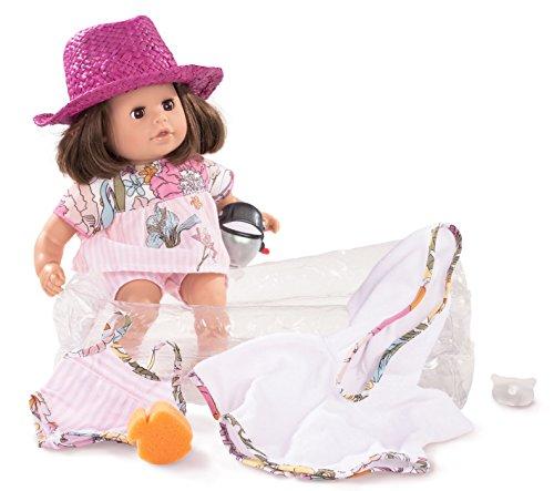 Preisvergleich Produktbild Götz 1616060 Cosy Aquini Jungle Badepuppe - Badebaby mit braunen Haaren, braunen Schlafaugen in einem 10-teiligen Set - 33 cm Mädchen-Babypuppe geeignet für Kinder ab 3 Jahren