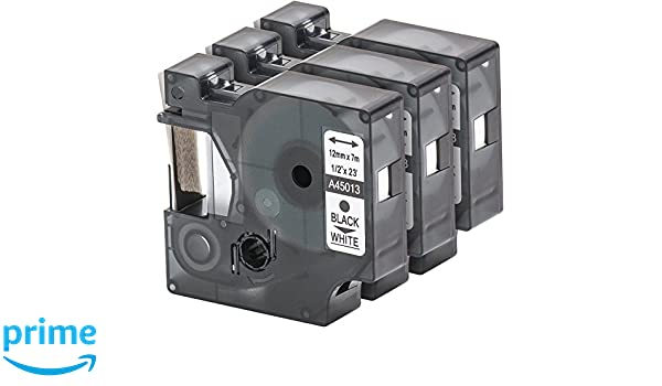LM150 LM160 LM200 LM220P LM120P MultiPack 7 Nastro Tape Cartridge compatibile con Dymo D1 40913 in bianco e nero 9 millimetri x 7m per LabelManager LabelPoint LabelWriter ad esempio per DYMO LabelPOINT /& LabelManager LM100 LM2 LM210D LMPC2