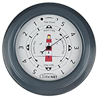 ClimeMET CM4520 Tide Clock with Red Lighthouse design. (Slate Grey).