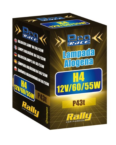 Rally 16042 Lampe Halogène H4 en Boîte, 60/55 W, Set de 1