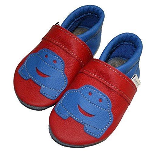 Formar Vermelho Rica Sapatos Auto De Rastejando Sapatos Cornflower Bebê pq6aI