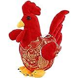 25cm niños lindos dibujos animados rojo gallo pollo peluche muñeca año nuevo regalo decoración