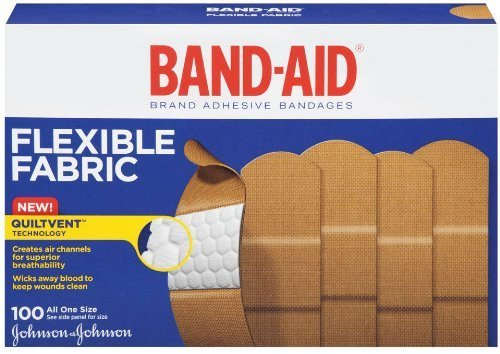 band-aid-adhesive-bandages-flexible-fabric-all-one-size-1-x-3-100-count-pack-of-2-by-band-aid