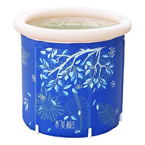 Faltende Badewanne JCOCO Haushalt verdickte aufblasbare Badewannen-Plastikeingeborenes eingebautes Kissen-Bad-Fass-Kinderbadebecken (Farbe : Built-in 65 * 70cm) -