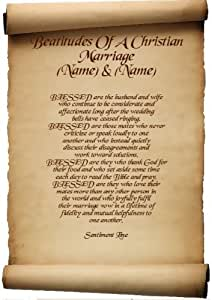 Beatitudes Of A Christian Marriage Personalised Friend