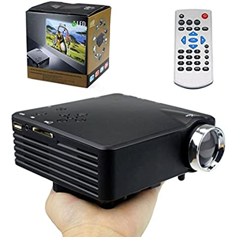 Tongshi Nueva Multimedia Portátil LED proyector de cine en casa VGA AV USB SD de HDMI 1080P HD