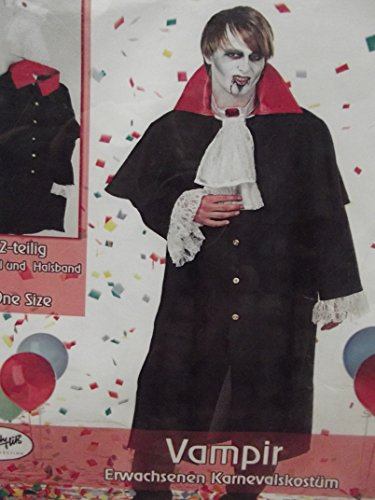 Preisvergleich Produktbild Erwacksenen Kostüm Verkleidung Fasching Vampir one size