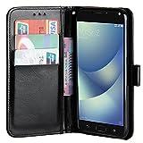 Raiphy Leder Brieftasche Hülle für Asus Zenfone 4 Max