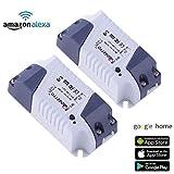 Smart Home WiFi Fernbedienung Drahtlos Strom Schalter Switch Intelligente Zeitschaltuhr Steuerung Über Aamazon Echo Alexa
