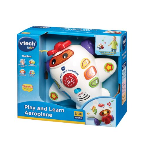 Image of VTech Baby Play and Learn Aeroplane - White