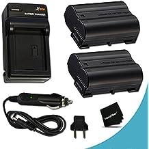 2 High Capacity Replacement Nikon EN-EL15 Batteries And 1 AC/DC Quick Charger Kit f/ Nikon D500 D750 D7200 D7100 D7000 D810 D810A D800 D800E D600 D610 1V DSLR Cameras