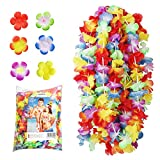 NNDOLL Hawaiana Halskette Hula Leis Blumen 50 Stück