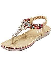feiXIANG frauen blume bogen flach heel sandalen Hausschuhe Bowknot strandschuhe Damen