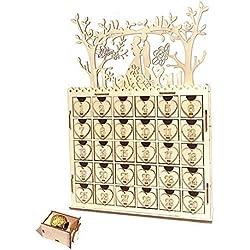 Augproveshak Eid Mubarak Party Muslim Sign DIY Calendario dell'Avvento Countdown Decorazione della casa Ramadan Artigianato in Legno