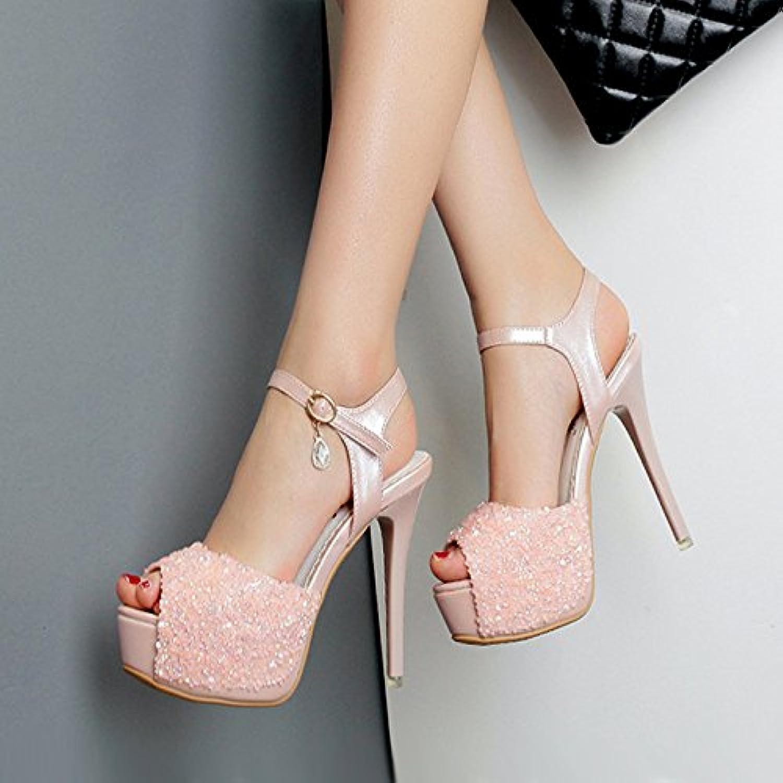 GTVERNH-Zapatos De Princesa Sexy Oc Todo El Partido 12Cm Ultra High Heel Shoes Impermeable Taiwan Diamante Palabra...