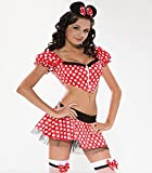 Mädchen Teenager Mini Kostüm Maus Mouse Bauchfrei Gr. 12-14 Jahre 152 158 164