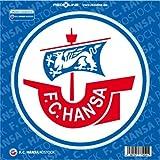 """FC Hansa Rostock Autoaufkleber """"Logo"""" groß offizielles Lizenzprodukt"""