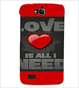 PrintDhaba Quote D-4116 Back Case Cover for HUAWEI HONOR HOLLY (Multi-Coloured)