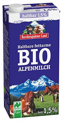 Berchtesgadener Land Bio Haltbare Bio-Alpenmilch 1.5% Fett, 1 l