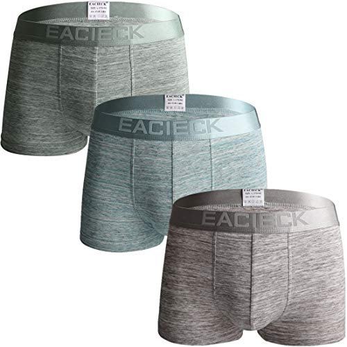 FZmix Herren Boxershorts Unterwäsche Unterhosen Baumwolle Männer Retroshorts(3er Pack)
