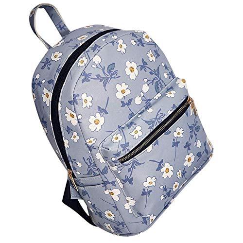 OOGUOSHENG Rucksack Berühmte Marke Pu Mode Frauen Leder Floral Bedruckte Schultasche Reiserucksack Tasche Designer Rucksack Hohe Qualität