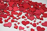 Unbekannt 240 Stk Holz Herzen rot Hochzeit Tischschmuck Streuteile Holzherzen Holz Herz Dekoherzen Streuherzen Tischdekoration Streudeko Basteln Liebe Valentinstag Muttertag Tischdeko Holzherz