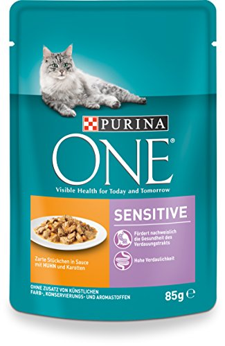 One Sensitive mit Huhn und Karotten, 24er Pack (24 x 85 g)