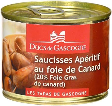 Ducs de Gascogne Saucisses Apéritif au Foie Gras de Canard 20% 160 g