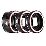 Neewer Metal Auto Focus AF Macro Extension Tube Set 13mm 21mm 31mm for Canon EF EF-S Lens DSLR Camera Such as 7D Mark II 5D Mark II III IV 1300D 1200D 1100D 750D 700D 650D 600D