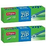 Alfapac - 25 sacchetti per congelazione con doppia zip, 1 l, per vegetale, set di 2 sacchetti di dimensioni 18 x 20 cm