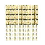 20 x Mini Kleine Scharnier für 1/12 Puppenhaus Miniatur Kabinett Golden 8 x 10 mm