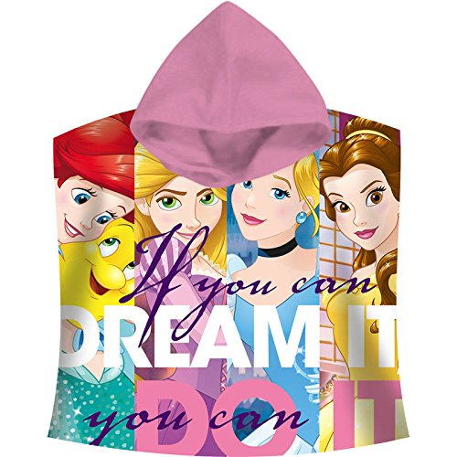 Poncho Disney-Prinzessinnen (300g.100% Baumwolle)