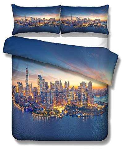 Sticker Superb Moderne Ville 3D Housse de Couette Royaume-Uni New York Londres États-Unis Los...