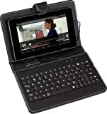 SUMVISION UNIVERSAL BLACK KEYBOARD LEATHER CASE FOR 7' TABLETS PC WITH MICRO USB CONNECTION