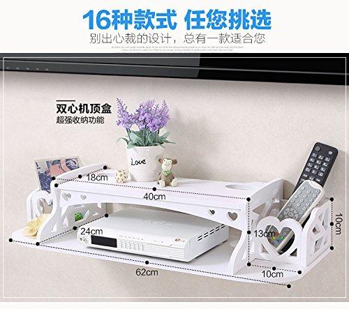 CLG-FLY Creative parete giardino TV set-top-box router portaoggetti ripiano montato a parete staffa a mensola ripiano separatore,17