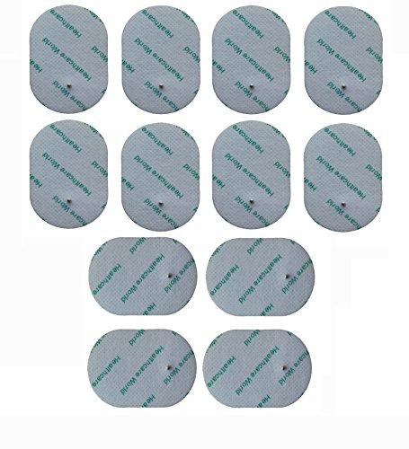TENS-Elektroden starke Selbst Klebepads mit kleinen Druckknopf-Anschluss. Geeignet für Omron E2, E4 usw. Oval Form Satz von 12