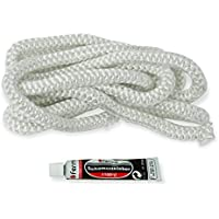 Fermit - tresse en fibre de verre 10mm x 2,5m, Blanc avec colle 17ml