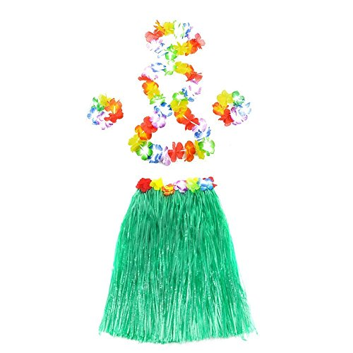 Homgaty 6pcs Hawaiian Gras Rock Tropische Thema Fancy Dress Party Kostüm Gr. Einheitsgröße, (Themen Kostüm Luau)