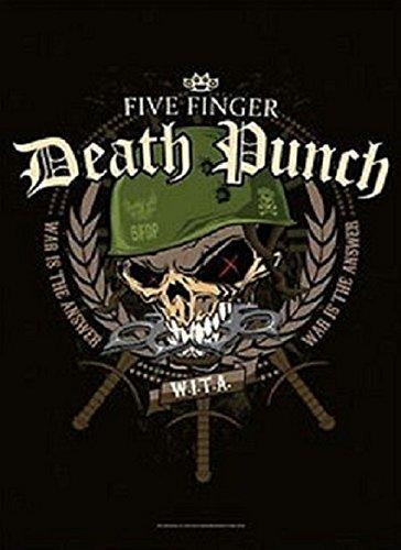 Five Finger Death Punch Bandiera in tessuto Warhead 77 x 105 cm