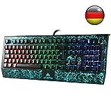 ACEPHA Pro Mechanische Gaming-Tastatur mit 105 RGB Beleuchtung Blaue Anti Ghosting Switches mit USB-Anschluss und Micro /Audi