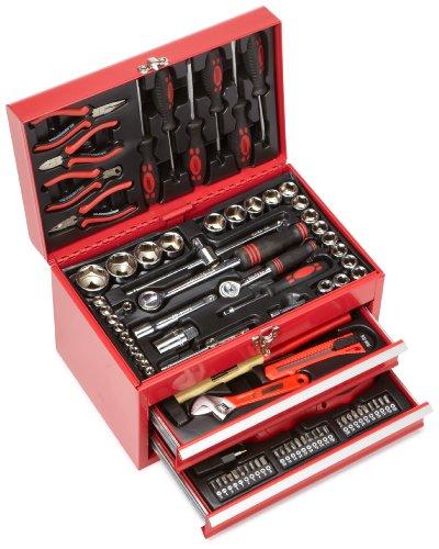 Mannesmann Bestückte Werkzeugbox 155-tlg, M29066 (2 Schubladen Tool Box)
