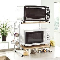 SoBuy FRG092-N Étagères micro ondes de cuisine Mini-étagère Four Micro-ondes Meuble rangement cuisine de service